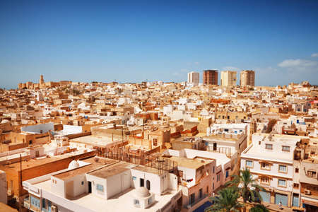 Panorama of the old town in Sousse, Tunisia photo