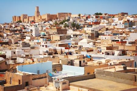 Panorama der Altstadt in Sousse, Tunesien