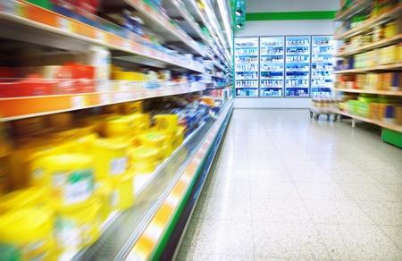 consommateurs: Divers produits dans un supermarch�