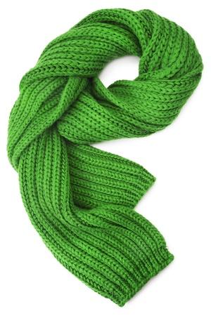 bufandas: Lana bufanda sobre fondo blanco