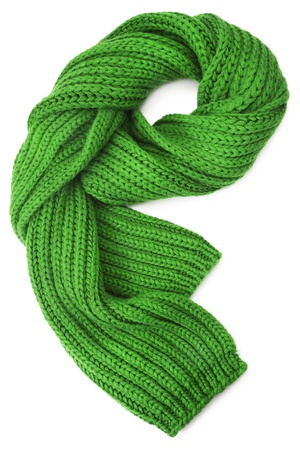 Wool scarf on white background Stock Photo