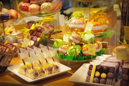 Assorted chocolates sweets in a shop Stock Photo - 13071676