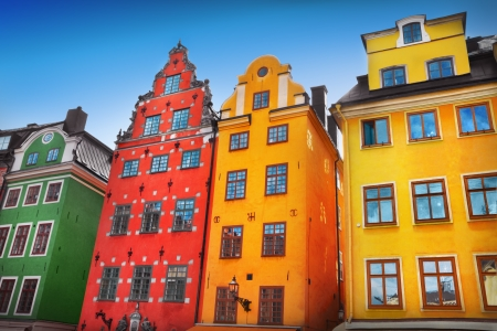 Stortorget place in Gamla stan, Stockholm Imagens