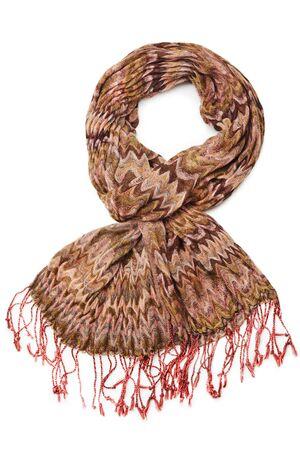 sciarpe: Sciarpa marrone su sfondo bianco
