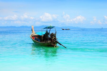 Long tail boat in Thailand photo