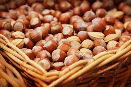 cobnut: Hazelnuts in a white sack