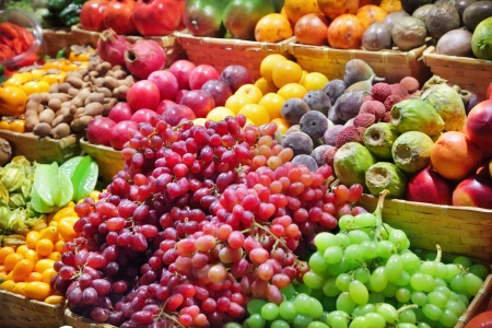 Fresh fruits at a market photo