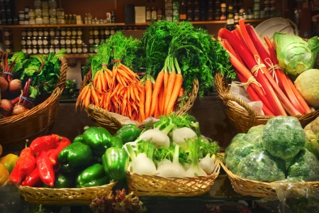 Vegetables at a market stall Stock Photo - 13929844