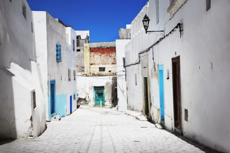 A narrow street in Sousse, Tunisia photo