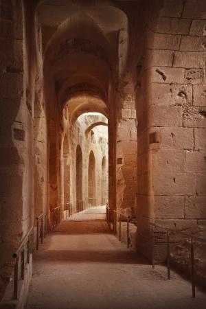 archaeology: Amphitheater in El Jem, Tunisia