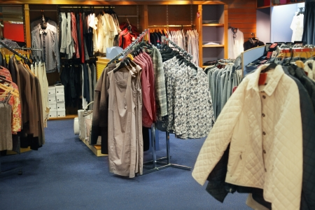 show case: Fashion store with female clothes