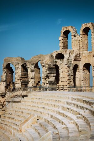 Amphitheater in El Jem, Tunisia Stock Photo - 14025457