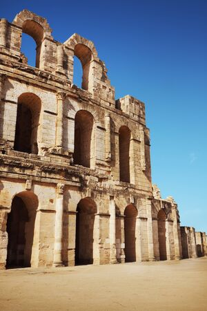 Amphitheater in El Jem, Tunisia photo