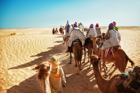 morocco: People in the Sahara desert