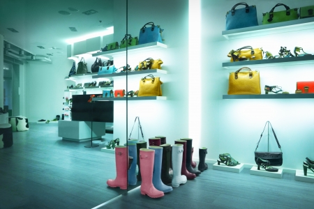 Shop window with bags and shoes Stock Photo - 14156151