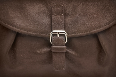 Close-up of brown leather texture photo