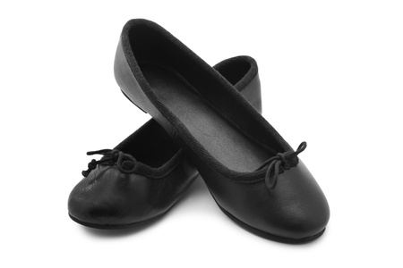 ballerina shoes: Shoes on white background Stock Photo