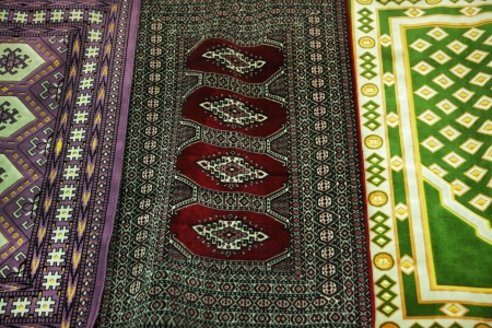 Close-up of oriental carpet photo