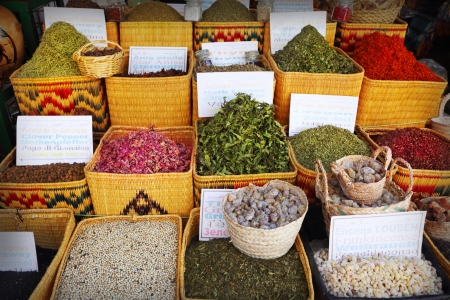 Spices for sale at the bazaar Stock Photo - 15080563