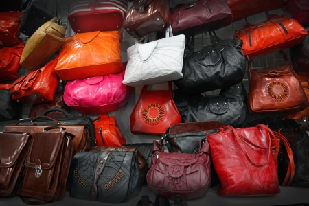 Leather handbags photo