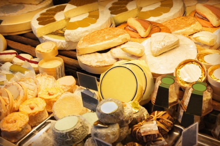 Different cheeses in a shop Stock Photo - 15305047