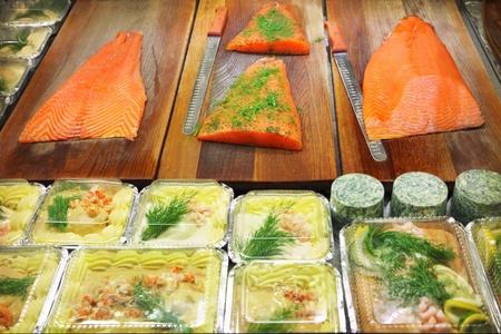 Fresh raw seafood with herbs Stock Photo - 15451847