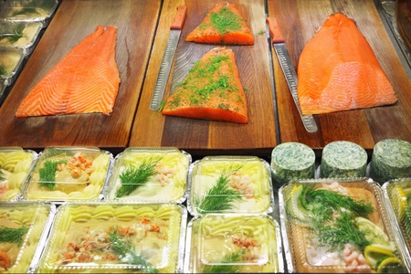 fishery products: Fresh raw seafood with herbs