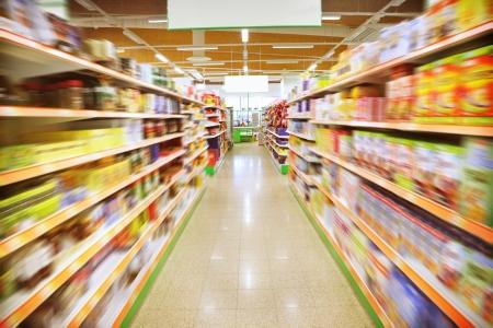 abarrotes: Los varios productos en un supermercado