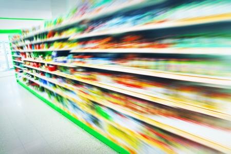 supermercado: Los varios productos en un supermercado
