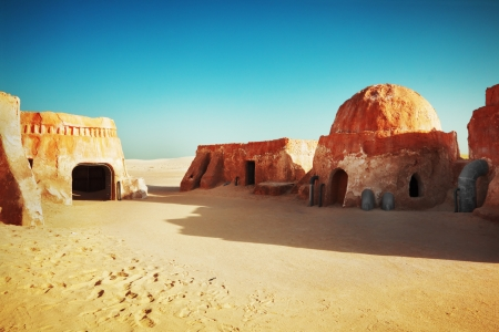 Star wars decoration in Sahara desert, Tunisia