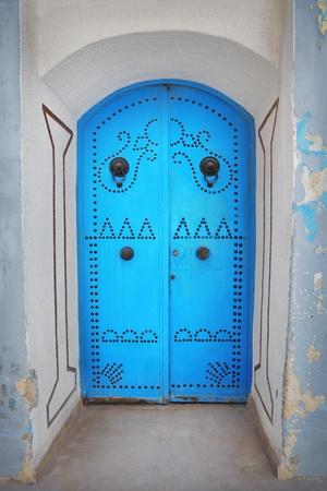Old blue door made of wood Stock Photo - 15953261