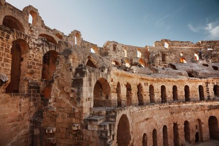 Amphitheater in El Jem, Tunisia photo