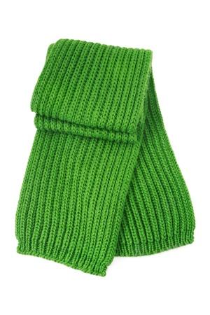 fringes: Wool scarf on white background Stock Photo