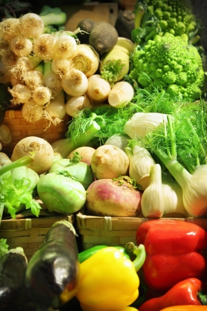 Vegetables at a market stall Stock Photo - 16260467