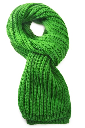 Wool scarf on white background Stock Photo - 16260478