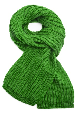 scarf: Wool scarf on white background Stock Photo