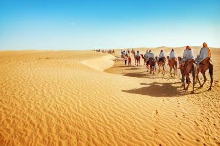 Die Menschen in der Wüste Sahara