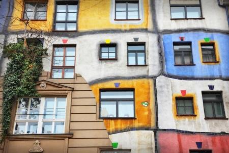 Das Hundertwasser-Haus in Wien, Österreich