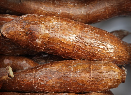 yucca: A pile of cassava root Stock Photo