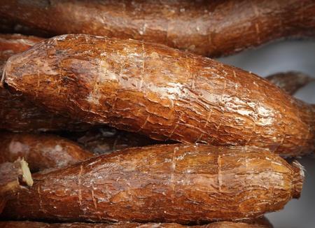 A pile of cassava root Stockfoto