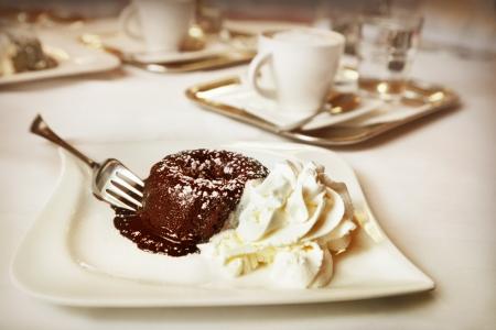 chocolate pudding: Chocolate fondant