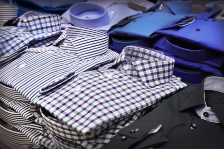 Different shirts in a shop