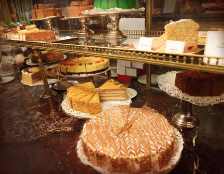 Assorted sweets in a shop photo
