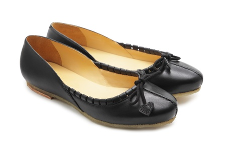 ballerina shoes: Black shoes on white background