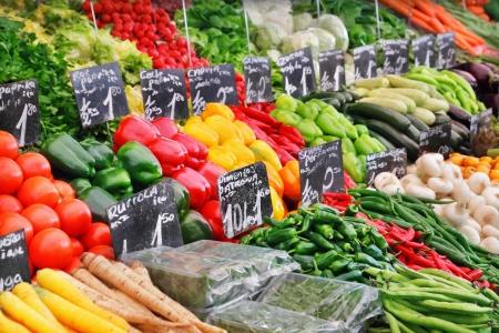 supermercado: Verduras