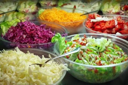 Salad buffet Stockfoto