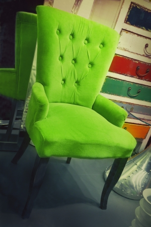 wooden furniture: Armchair in a furniture store