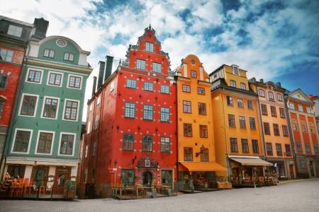 Miejsce Stortorget w Gamla Stan, Sztokholm Zdjęcie Seryjne
