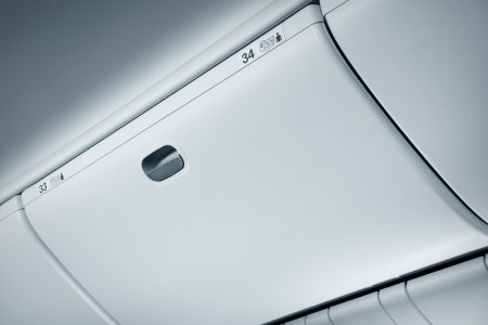 compartment: Baggage compartment inside an airplane