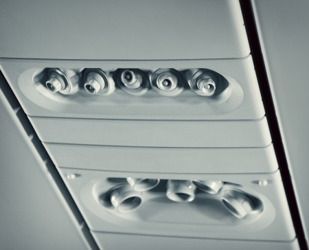 Overhead console in aircraft photo